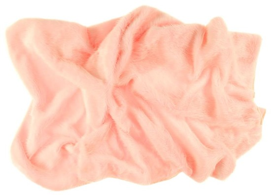 Decorative fur bedspread, blanket FOX pink 140x200 cm