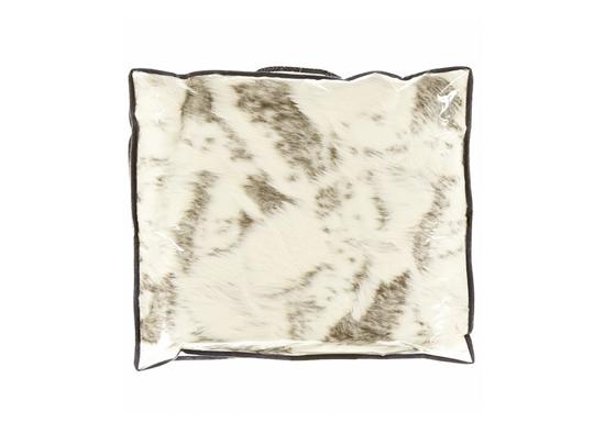 Decorative fur bedspread, blanket GOAT beige 150x200 cm