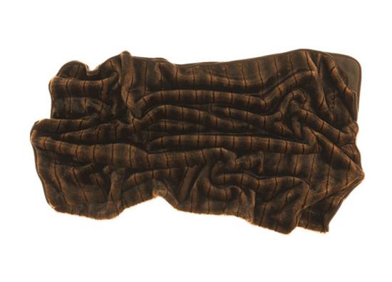 Decorative fur bedspread, blanket ROMANTIC BRUNETTE brown 155x200 cm