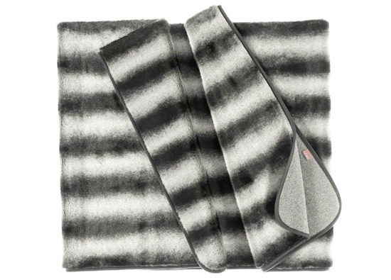 Decorative fur bedspread, blanket ROYAL CHINCHILLA grey 155x200 cm