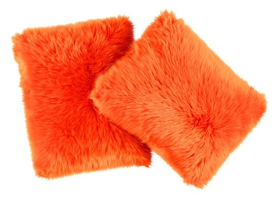 Faux fur pillow SHAGGY orange 40x50 cm