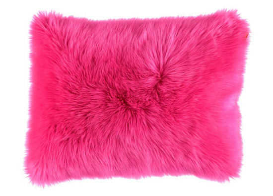 Faux fur pillow SHAGGY pink 40x50 cm