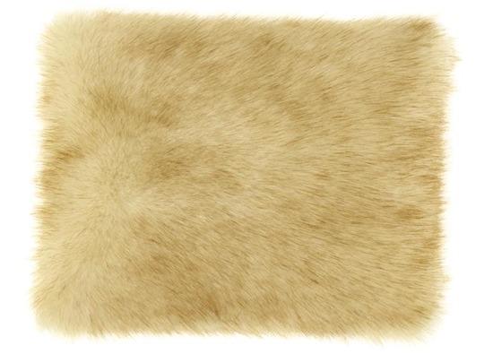 Futrzana poduszka dekoracyjna FOXY beżowy 40x50 cm