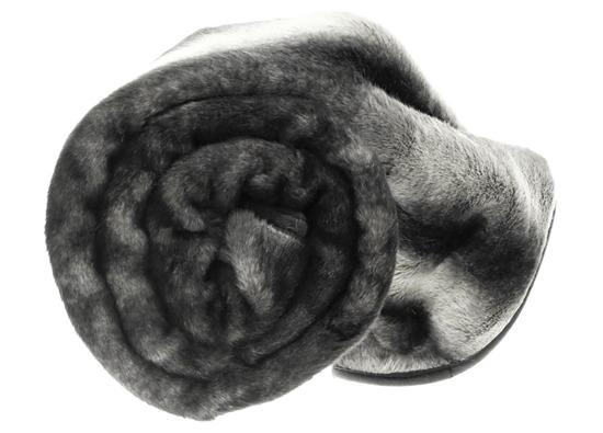 Koc, narzuta ROYAL CHINCHILLA szary 155x200 cm