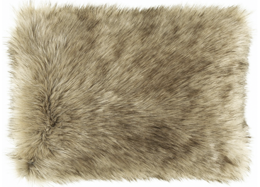 Futrzana poduszka dekoracyjna GRANDE PINI beżowy 40x50 cm