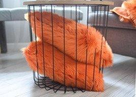 Decorative faux fur pillow MANDARA