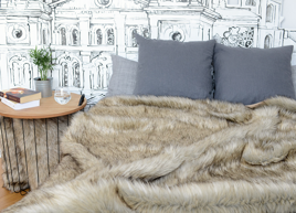 Decorative faux fur set GRANDE PINI
