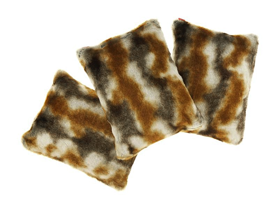 Decorative faux fur pillow GOLD ELEGANCE