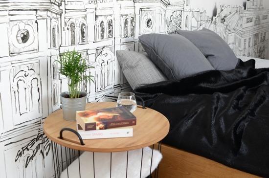 Decorative fur bedspread, blanket BLACK PANTHER black 160x200 cm