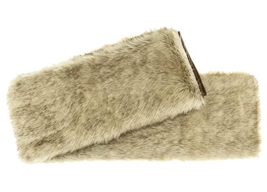 Decorative fur bedspread, blanket GRANDE PINI beige 155x200 cm