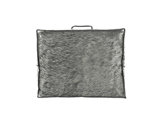 Decorative fur bedspread, blanket GRANDE PINI fuscous 155x200 cm