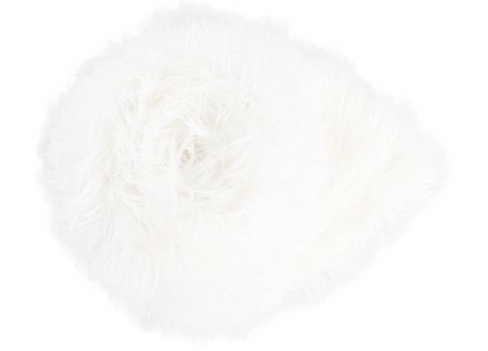 Decorative fur bedspread, blanket LUMA white 155x200 cm