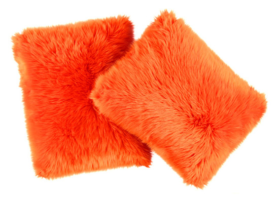 Decorative faux fur set, bedspread MANDARA and two pillows SHAGGY