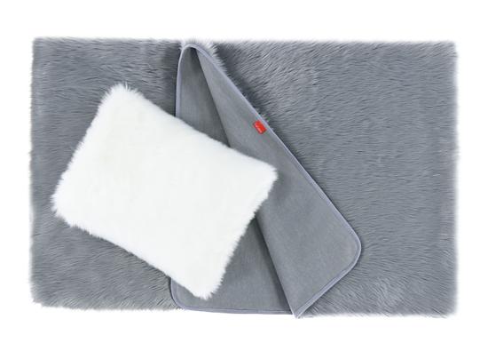 Decorative faux fur bedspread MARENGO