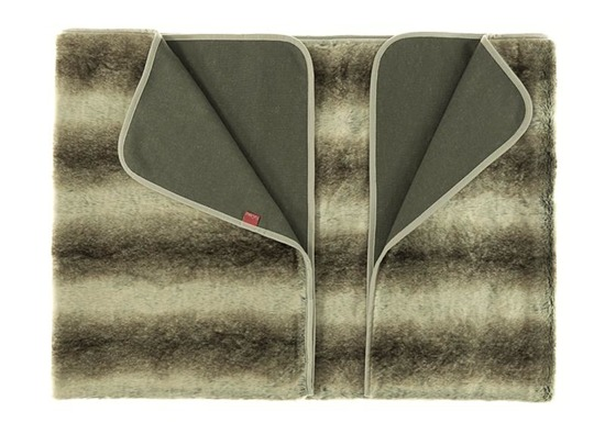 Decorative fur bedspread, blanket PLATINUM BEAUTY beige 155x200 cm