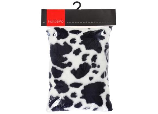 Decorative faux fur pillow COW