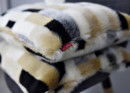 Faux fur pillow EGYPTIAN BEAUTY