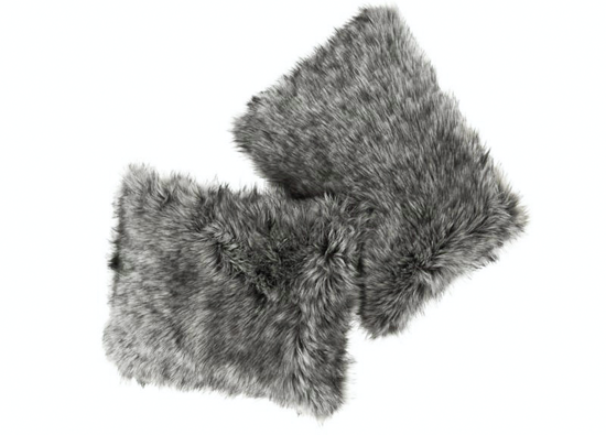 Faux fur pillow GRANDE PINI brown 40x50 cm
