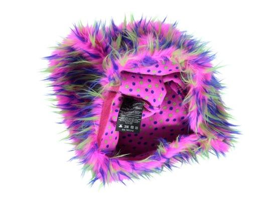 Decorative faux fur pillow HEDGEHOG