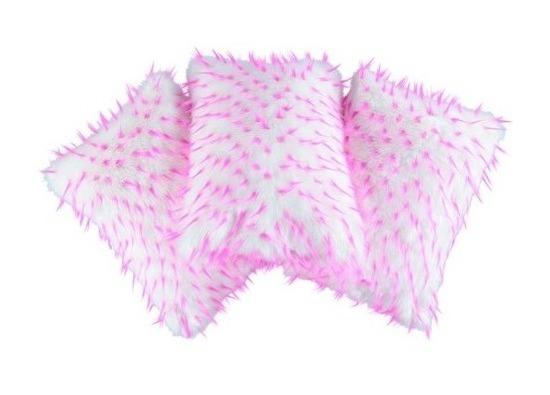 Faux fur pillow HEDGEHOG white 40x50 cm