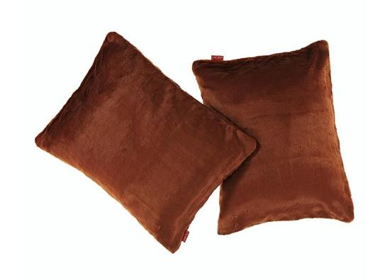 Decorative faux fur pillow MINK