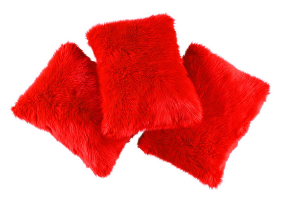 Decorative faux fur pillow FIRE JAZZ
