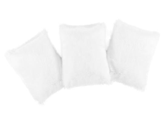 Faux fur pillow SHAGGY white 40x50 cm
