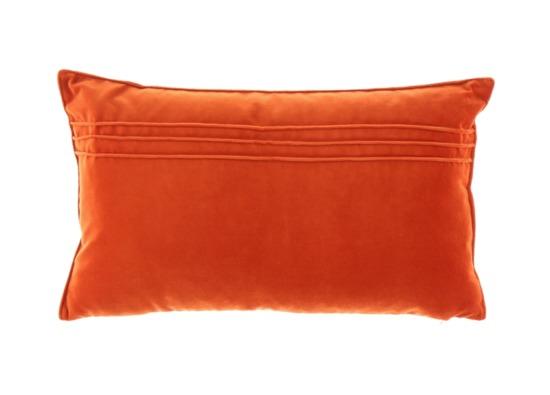 VELVET PILLOW orange 30x50 cm