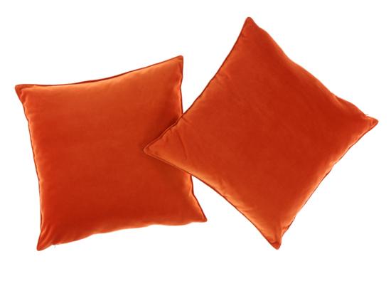 VELVET PILLOW orange 45x45 cm