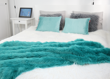 Decorative faux fur bedspread LAGUNA KALA