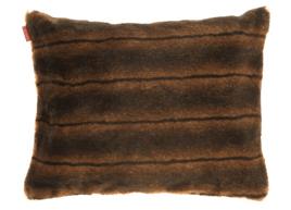 Poduszka dekoracyjna z futra ROMANTYCZNA BRUNETKA