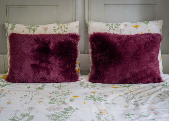 Poduszka dekoracyjna z futra CZUPER