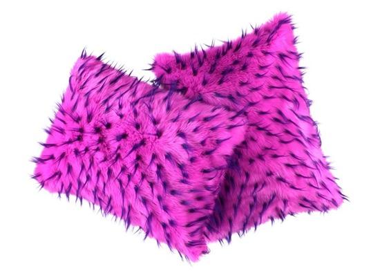 Poduszka dekoracyjna z futra JEŻYK