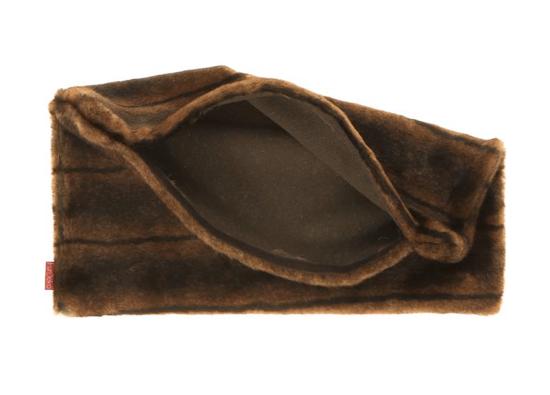 Futrzana poduszka dekoracyjna ROMANTYCZNA BRUNETKA brązowy 40x50 cm