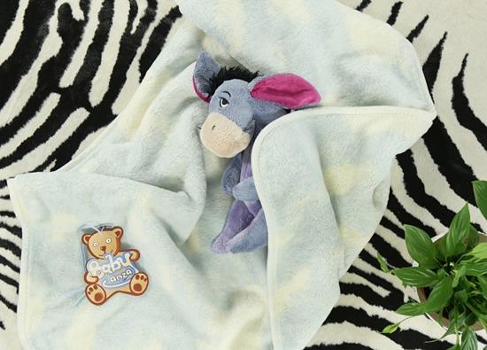 Kocyk niemowlęcy NIEBIESKI W CHMURKI