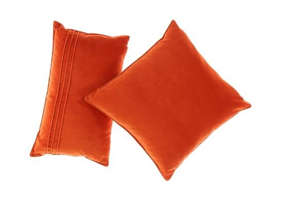 PODUSZKA Z AKSAMITU pomarańczowy 45x45 cm